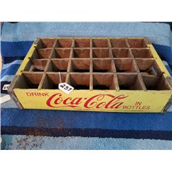 1950s Coke Crate 24 bottle wooden