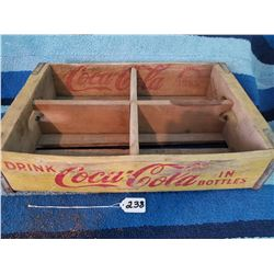 1960s Coke Crate 4-6 Pack- wooden