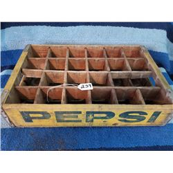 Wooden Pepsi Crate 1960s 24 bottles