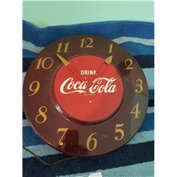 1960s Coca Cola Tin Clock- Working
