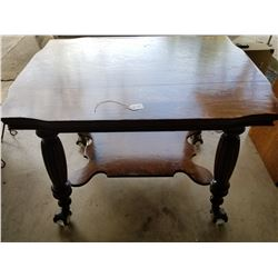 "Quarter Cut Oak Parlor Table 26""x36""-Ball and claw with face-4"" w"