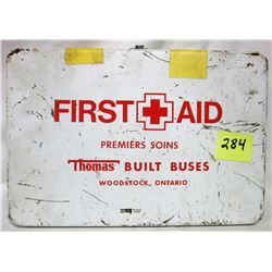 steel box first aid kit and contents, Red Cross