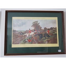 "Herring Fox-Hunting Scene ""Full Cry"" picture"