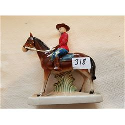 "RCMP horse and rider 6 1/2"" x 7"""
