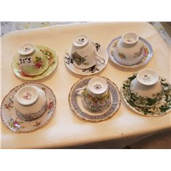 6 Royal albert cups/saucers
