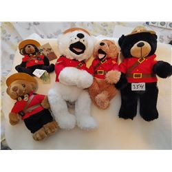 RCMP lot teddy bears