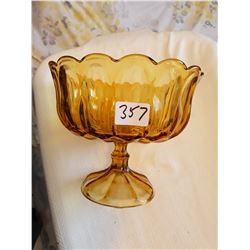 Large glass bowl - AMBER
