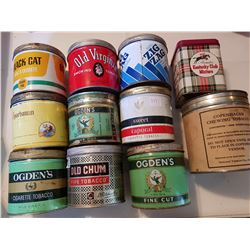 Lot of 11 tobacco tins