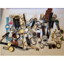 lot of 50 watches, as is, some wind up