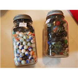 2 jars of rare older marbles