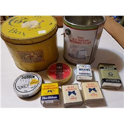 spice tin lot