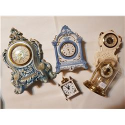 lot of wind up clocks
