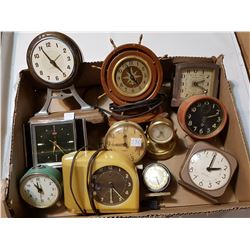 lot of various clocks, as is