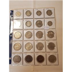lot of 50 cent and 1$ Canadian coins