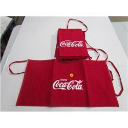Lot of 6 Coke Aprons -Red Large Writing