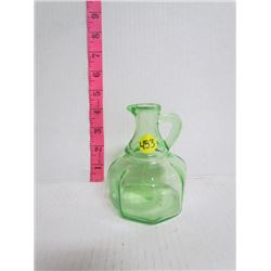 Green Hazel Atlas Cruet-No Stopper