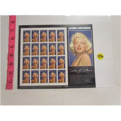Mint Sheet of Us Marilyn Monro 32 cent Stamps