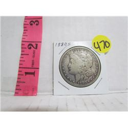 United States Silver Dollar 1880 S Mint Mark