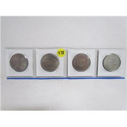 Great Britain Crowns- 4 different