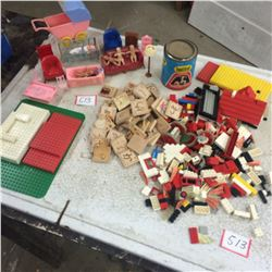 Lot of Lego,Tinker Toy+Wooden Tiles