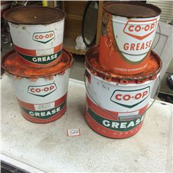 4 Co op Grease Pails