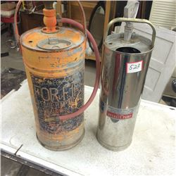 2 Pump Fire Extinguishers