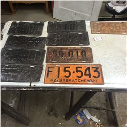 9 License Plates 1930,1931,1932,1933,1935,1936,1937 (1942 and 1947 for restoration)