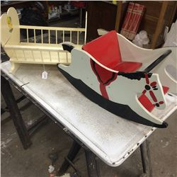 Childs Rocker and Cradle