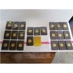 1997 Pinnacle Mint Collection 22 Brass Coins And Checklist