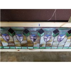 Large Stain Glass Window 52x16""