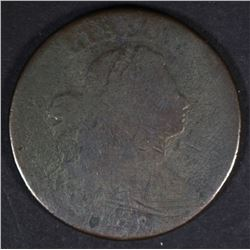 1798 DRAPED BUST LARGE CENT, AG.G