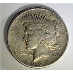 1921 PEACE DOLLAR, VF KEY DATE