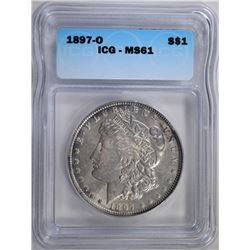 1897-O MORGAN DOLLAR ICG MS-61