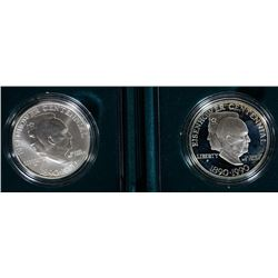 (2) Eisenhower Silver Dollars Commemoratives