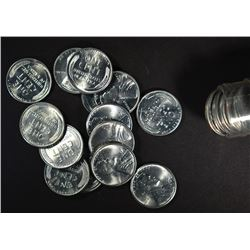 BU ROLL OF 1943-D LINCOLN STEEL CENTS