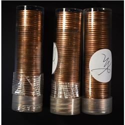 1944 & 2-1955-S BU LINCOLN CENT ROLLS