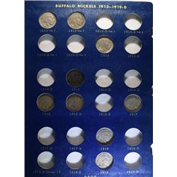 43 DIFFERENT BUFFALO NICKELS IN ALBUM: