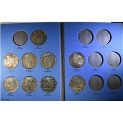 9-DIFFERENT PEACE DOLLARS IN ALBUM NICE COINS