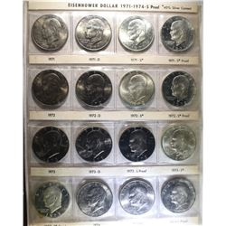 COMPLETE 32 COIN SET OF EISENHOWER DOLLARS