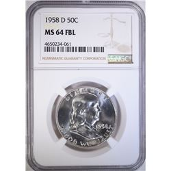 1958-D FRANKLIN HALF DOLLAR NGC