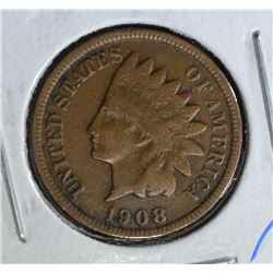1908-S INDIAN HEAD CENT  XF