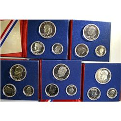 (5) 1976 3-Piece Bicentennial Proof Sets.