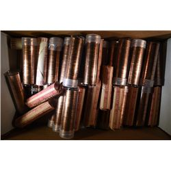 BU LINCOLN CENT ROLL LOT