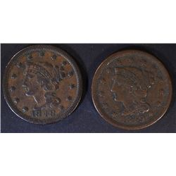 1848 & 49 LARGE CENTS, VF
