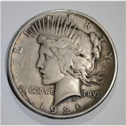 1921 PEACE DOLLAR VF+