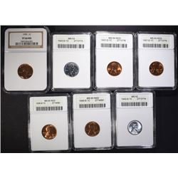 GRADED LINCOLN CENTS; ANACS 1938-S MS65RD