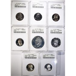 ANACS PROOF CAMEO LOT; 1976-S SILVER
