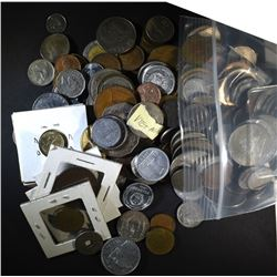 OVER 20 POUNDS of FOREIGN COINS