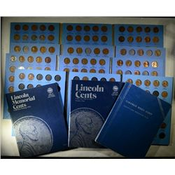 LINCOLN CENT LOT - 7 ALBUMS STARTS