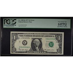1977 $1 FEDERAL RESERVE NOTE PCGS 64PPQ